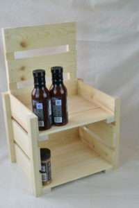 Wooden Countertop Display 2-Tier side
