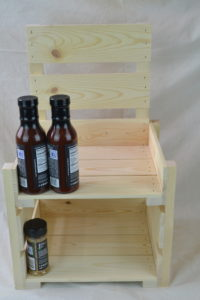 Wooden Countertop Display 2-Tier front