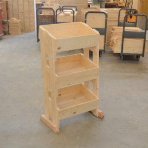 wooden 3 tier store display