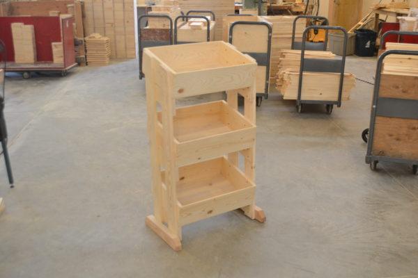 wooden 3 tier store display