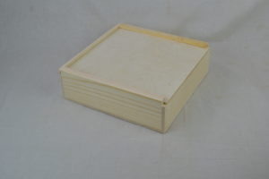 wooden swag box lid closed