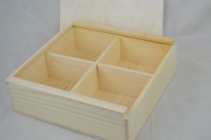 wooden swag box lid off