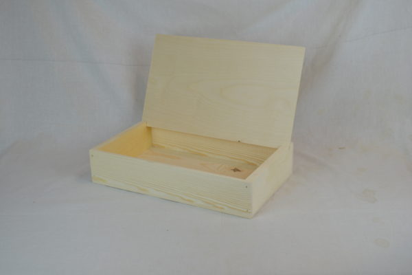 wooden reader board counter top shelf display