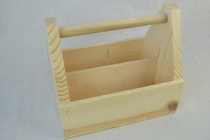 wooden condiment carrier side