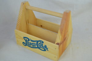 wooden condiment carrier pepsi