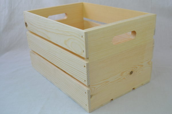 wholesale wooden hand hole crate 18x12x9