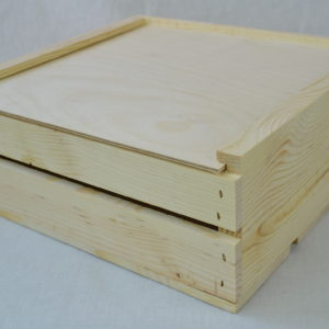wooden crate 11x11x4