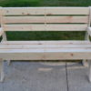 wooden park bench front