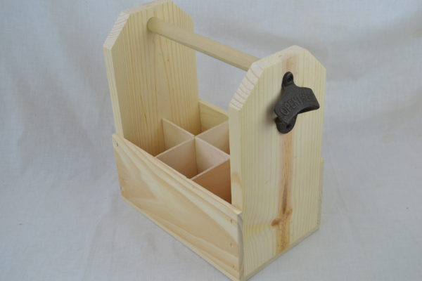 wooden 6 pack angled