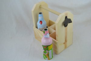 wooden 6 pack side view