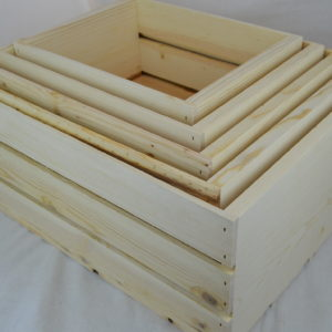 Wooden 5 Piece Nesting Crates
