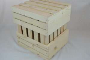 old fashioned wooden crates 12x10x5 cubed