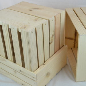 Old Fashioned Wooden Crates 12x10x5
