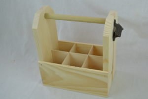 wooden 6 pack