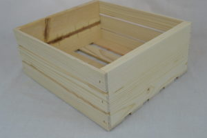 old fashioned wooden crate 12x10x5