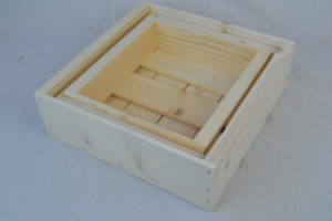 3 piece wooden nesting boxes nested