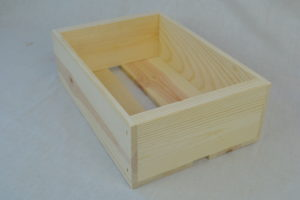 wooden box 12x8x4 front