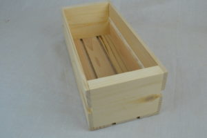 old fashioned wooden crates front