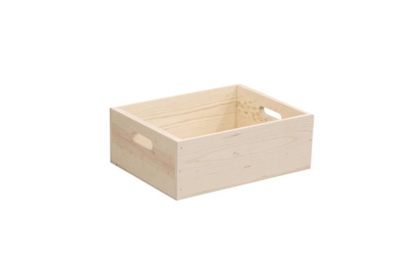wooden box hand holed 16