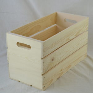 wooden hand hole crate 17x8x10