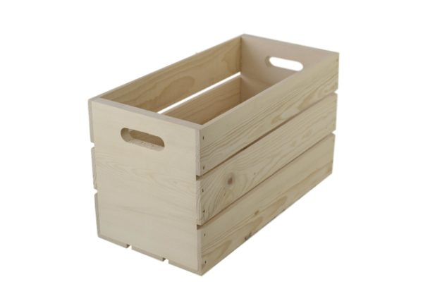 wooden hand holed crate 17