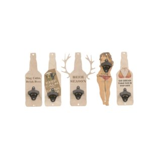wooden wall-mount bottle openers