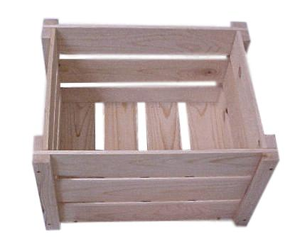 wooden crate knockdown style