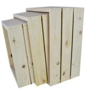 small 3 piece wooden nesting crates