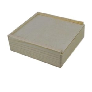 wooden box 12x12x4 slide top