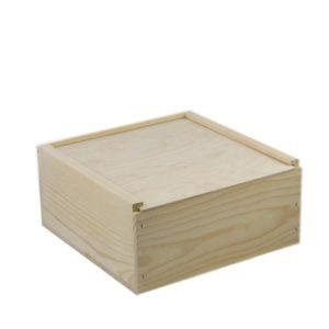 wooden slide top box 12x12x6