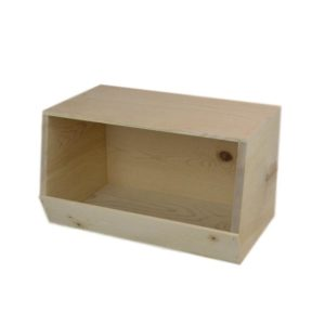 wooden stackable storage bin