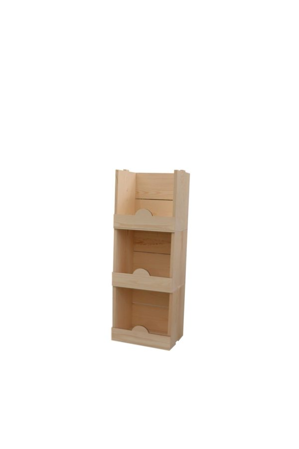 wooden stacking display boxes