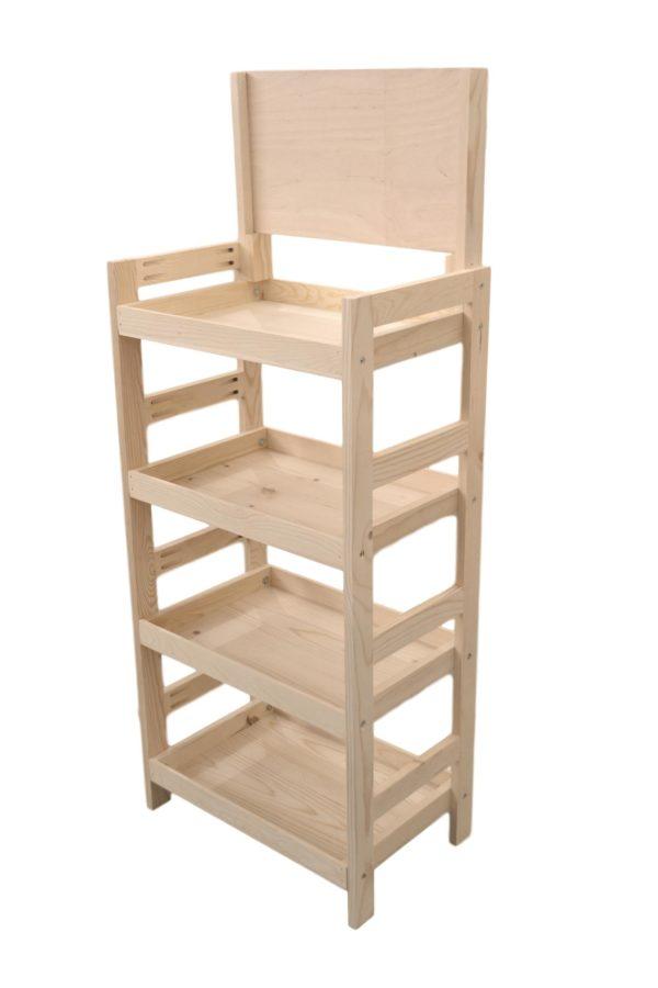 wooden 4 tier end-cap display