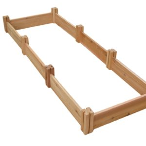 wooden cedar raised garden kit