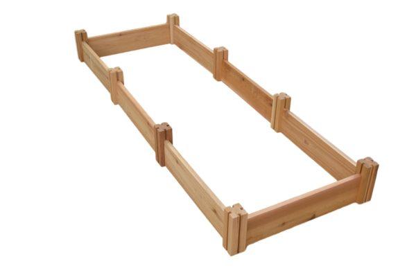 wooden cedar raised garden kit