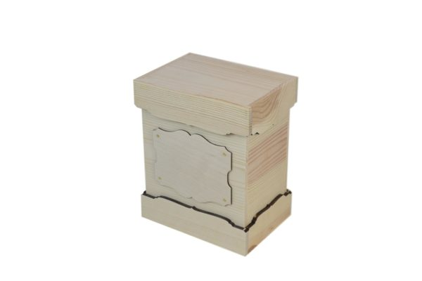 wooden urn unfinished box