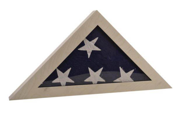 wooden flag display box