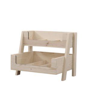 Wooden 2 tier counter display