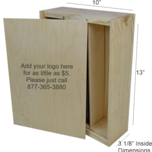 wooden box 3 bottle slide