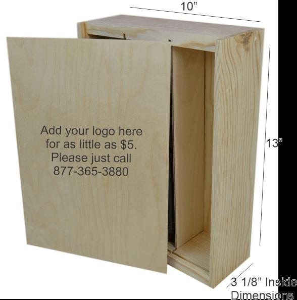wooden box 3 bottle slide