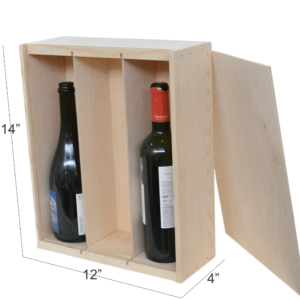 wooden box 3 bottle