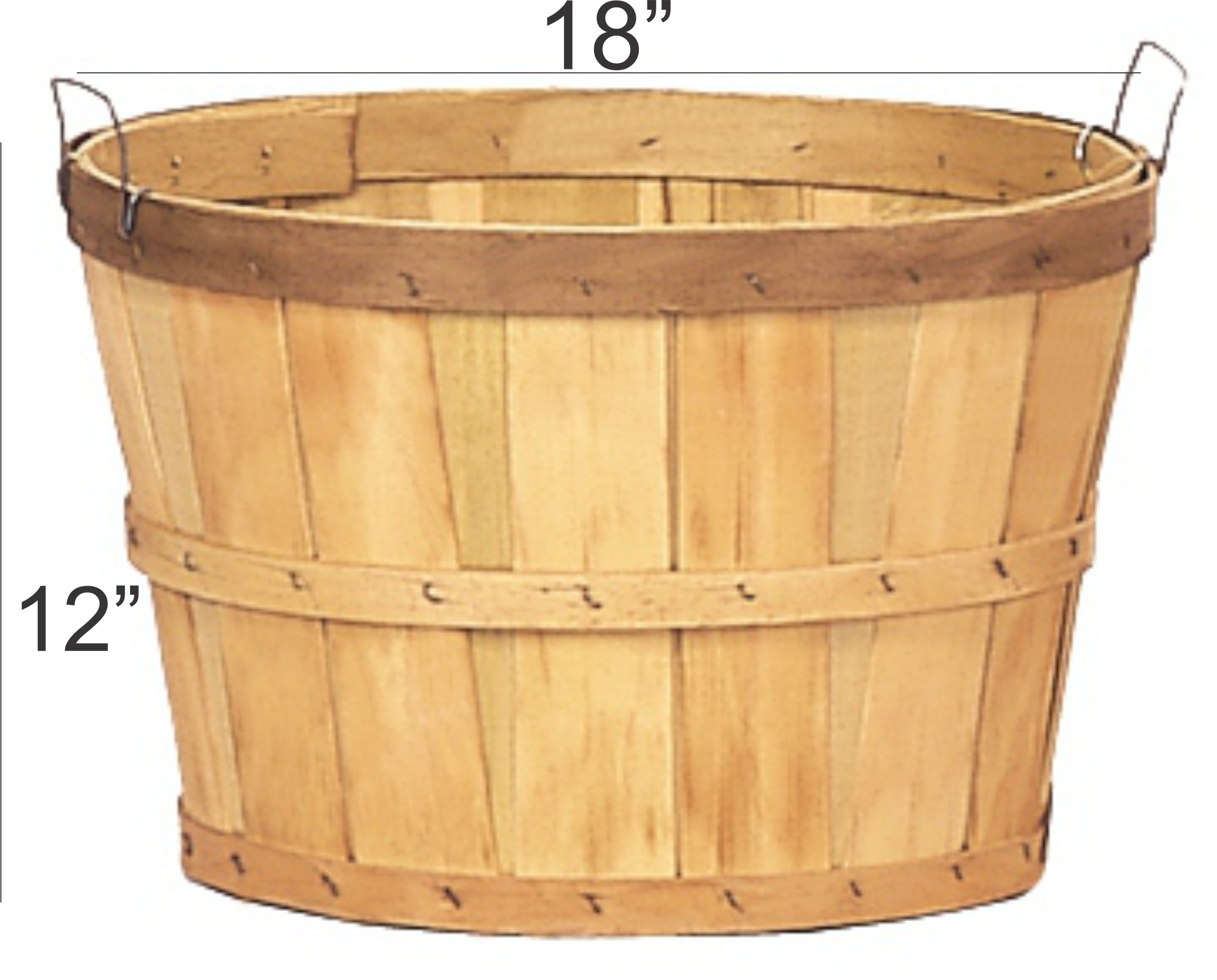 wire handle one bushel baskets