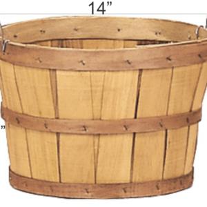 wooden half bushel basket