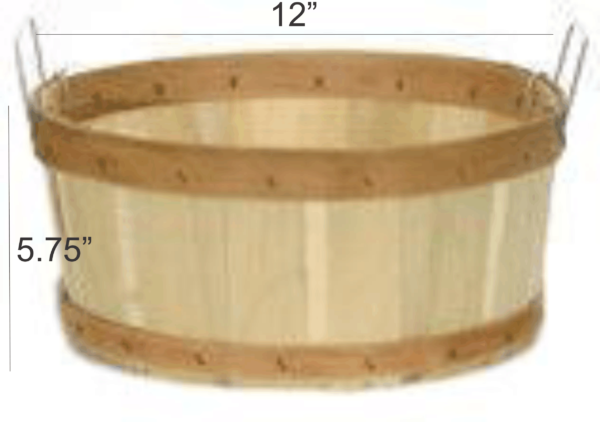 shallow half bushel baskets