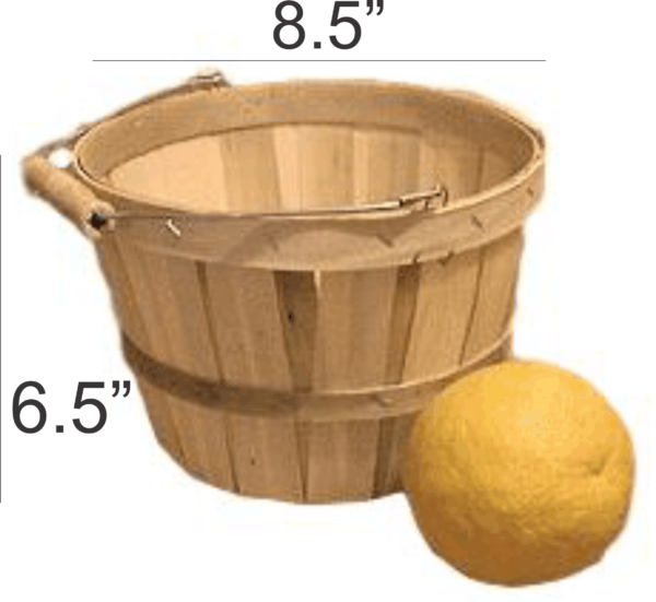 wooden half peck baskets