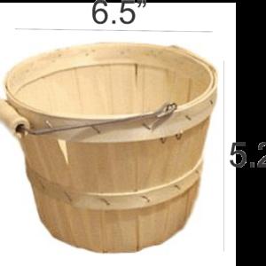 wooden quarter peck baskets