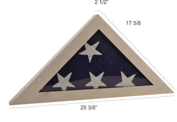 wooden flag display box