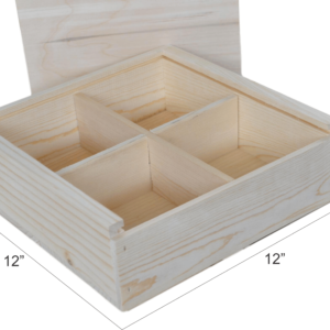 wooden swag box divided