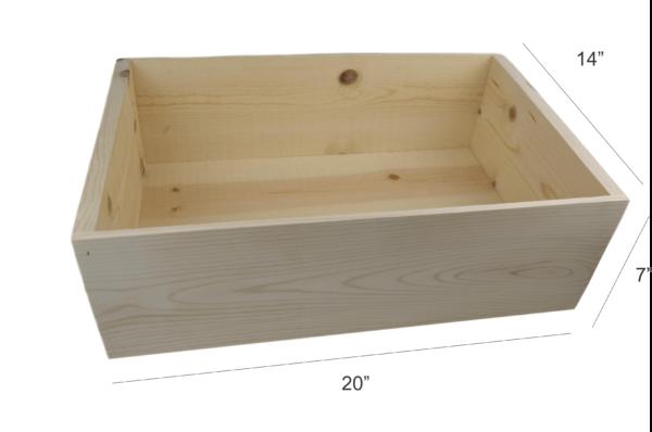 wooden 12 bottle display box