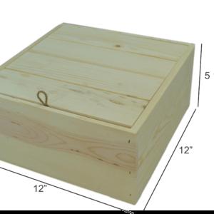 wooden drop-in lid box